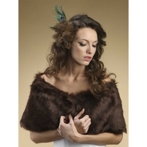Faux Fur Mink Brown Fox Wrap