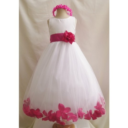 flower-girl-dress-rose-petal-ivory-with-fuchsia-for-easter-wedding-bridesmaid-938