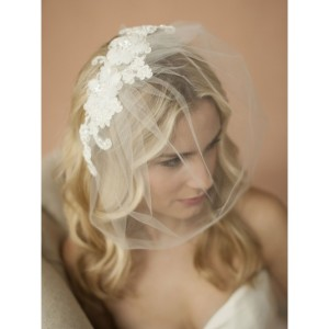 double-flower-ivory-lace-applique-on-handmade-tulle-birdcage-blusher-veil-64b