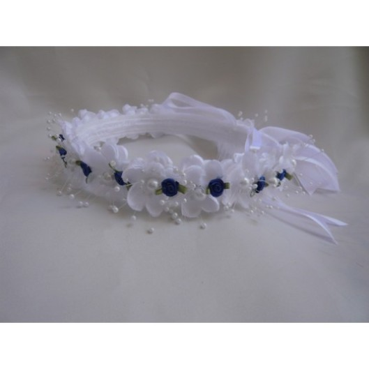 flower-girl-dress-headpiece-or-crown-white-with-blue-royal-for-easter-wedding-bridesmaid-communion-c58